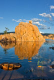 Watson Lake Reflection Landscape Stock Image