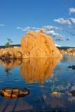 Watson Lake Reflection Landscape Stock Image
