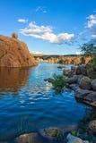 Watson Lake Scenic Reflection Royalty Free Stock Photography