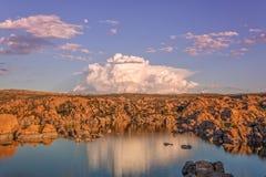 Watson Lake Storm Clouds image stock