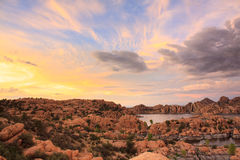 Watson Lake Sunset Photographie stock