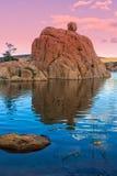 Watson Lake Sunset Scenic Stock Photography