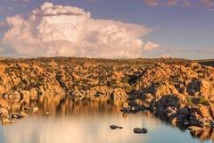 Watson Lake Sunset Storm Immagini Stock Libere da Diritti