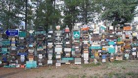 Watson Lake, Yukon, Canadá Imagem de Stock Royalty Free