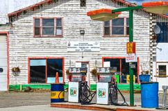 Gas station, Watson Lake, Yukon, Canada. royalty free stock image