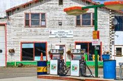 Gas station, Watson Lake, Yukon, Canada. Royalty Free Stock Image