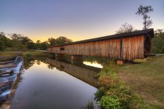 Watson Mill Bridge Royalty Free Stock Image