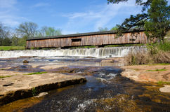 Watson Mill Bridge State Park. Historic Watson Mill Bridge State Park in Georgia. One of the few remaining covered bridges Stock Photo
