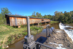 Watson Mill Covered Bridge Royalty Free Stock Photo