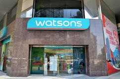 Watson Store located in downtown Shenton Way Royalty Free Stock Photo