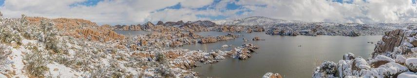 Watson zimy jeziorna panorama Obraz Royalty Free