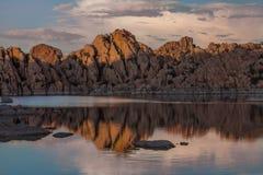 Watson zmierzchu odbicia Jeziorny prescott Arizona Zdjęcia Royalty Free