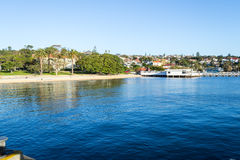 From Watsons bay to CBD in Sydney. Watsons bay is located 11km East of Sydneys CBD Stock Photo
