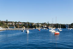 From Watsons bay to CBD in Sydney. Watsons bay is located 11km East of Sydneys CBD Royalty Free Stock Images