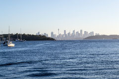 From Watsons bay to CBD in Sydney. Views of downtown Sydney from Watsons bay Royalty Free Stock Images