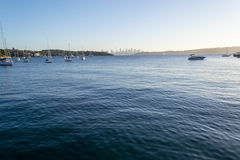 From Watsons bay to CBD in Sydney. Views of downtown Sydney from Watsons bay Royalty Free Stock Photo