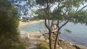 Watsons-Bucht ein kleiner Strand auf Sydney Harbour, Sydney, NSW, Australien lizenzfreie stockbilder