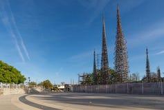 Watt di torri a Los Angeles del sud fotografia stock