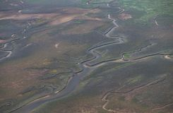 Watt landscape from above royalty free stock photos
