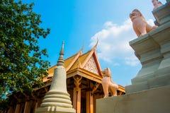 Watt Phnom Temple Cambodia.Phnom Penh. The beautiful temple Royalty Free Stock Photos
