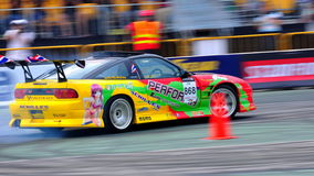 Wattanaporn drifting at Formula Drift 2010 Royalty Free Stock Photo