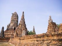 Wattanaram di Wat chai Immagine Stock