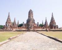 Wattanaram di Wat chai Immagine Stock Libera da Diritti