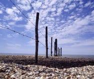Wattenmeer südlich breiten Zauns Pebble Frankreichs Camargue stockbilder
