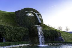 Wattens, Austria - April 1, 2019: The entrance to Swarovski Crystal Worlds Swarovski Kristallwelten in Wattens. Swarovski. Crystal Worlds Innsbruck Store royalty free stock image