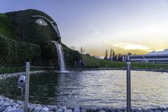Wattens, Austria - April 1, 2019: The entrance to Swarovski Crystal Worlds Swarovski Kristallwelten in Wattens. Swarovski. Crystal Worlds Innsbruck Store stock photos