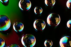 Watter drops. On  dvd media Royalty Free Stock Images