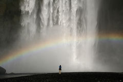 Watterfall en Islandia Imagenes de archivo