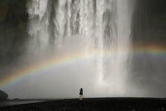 Watterfall in Islanda Immagini Stock