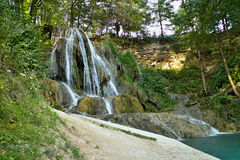 Watterfall in Lucky village, Slovakia. stock image