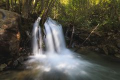 Watterfall in south of France stock photos