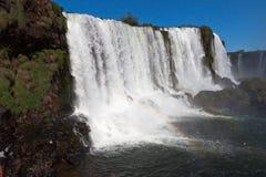 Watterfalls en Foz hace Iguassu el Brasil Imagen de archivo