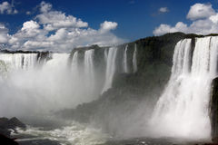 Watterfalls in Foz do Iguassu Argentina Brazil Stock Images