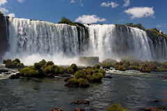 Watterfalls in Foz do Iguassu Brazil Stock Photo