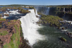 Watterfalls in Foz tun Iguassu Brasilien Lizenzfreies Stockbild