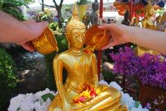 Wattering Βούδας Στοκ Εικόνες