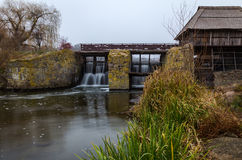 Wattermill. Watermill in the Ukrainian village Stock Image