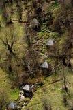 Wattermolens bij dorp Umoljani Stock Afbeeldingen