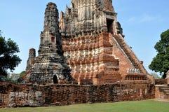 watthanaram för ayutthayachai thailand wat arkivbilder