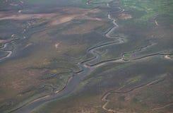Wattlandschaft von oben Lizenzfreie Stockfotos