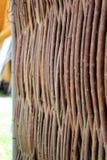 Wattle φράκτης από τους λεπτούς κλάδους - ένας φράκτης στο χωριό Στοκ φωτογραφίες με δικαίωμα ελεύθερης χρήσης