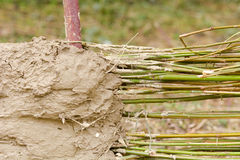 Wattle and daub building method. Wattle and daub a traditional building method Royalty Free Stock Photo