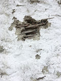 Wattle and Daub. Close up of the exterior of a wattle and daub wall Royalty Free Stock Photo