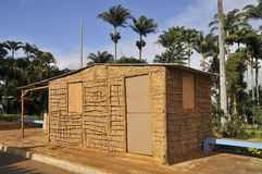 Wattle-and-Daub construction details. Wattle and daub (or wattle-and-daub) is a building material used for making walls, in which a woven lattice of wooden Royalty Free Stock Image