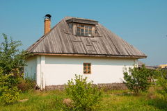 Wattle and daub hut. Ukrainian wattle and daub hut in village Royalty Free Stock Image