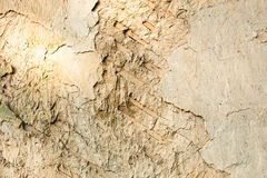 Wattle and daub wall texture. Cracked wall surface of the old wattle and daub house Stock Photos